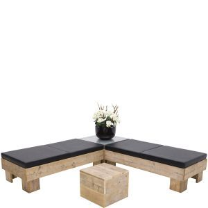 Loungeset Pure Wood (incl. orchidee)