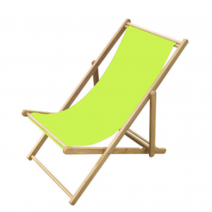Strandstoel lime 109x59x(h)105 cm.