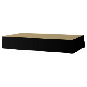 Podiumafrok zonder plooi zwart (l)410 X (h)40 cm.