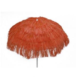 Parasol raffia (ø)1,8 mtr. oranje (incl. voet)