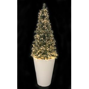 Kerstboom snowy met pot (h)300 cm.