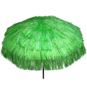Parasol raffia (ø)2 mtr. groen (incl. voet)