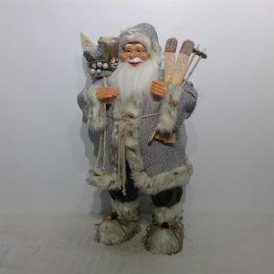 Kerstman wit/grijs (h)180 cm.