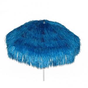 Parasol raffia (ø)2 mtr. blauw (incl. voet)