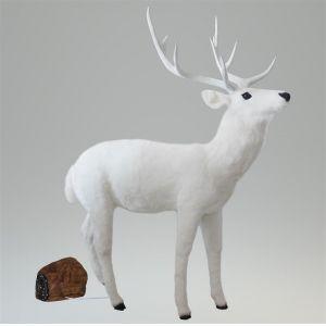 Hert bewegend wit (h)171x(l)138 cm.