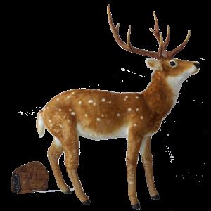 Hert bewegend bruin (h)171x(l)138 cm.