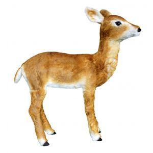 Hert bewegend bruin (h)90x(l)82 cm.