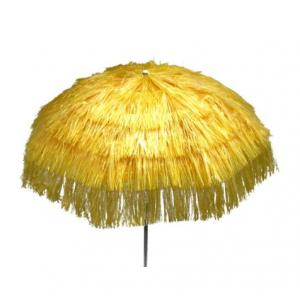 Parasol raffia (ø)1,8 mtr. geel (incl. voet)