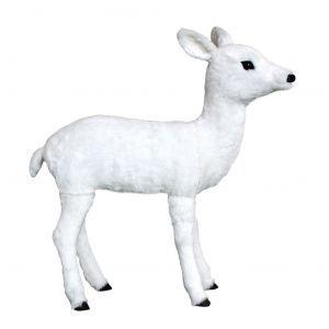 Hert bewegend wit (h)90x(l)82 cm.