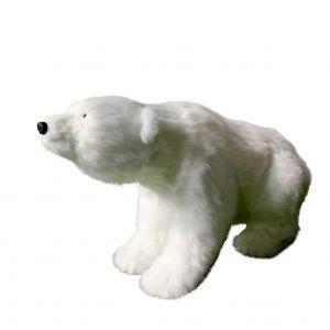 IJsbeer bewegend wit (h)58x(l)104 cm.