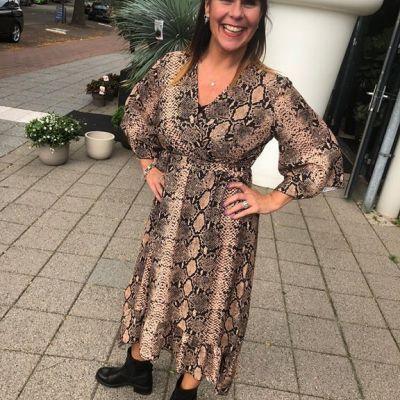 Nieuwe print Dress, SNAKE  €44,99!! #studiojill #snake #dress #nieuw #prints #collectie #happy
