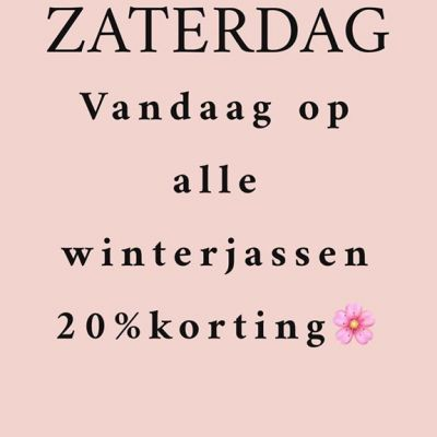 VANDAAG geven wij op alle winterjassen 20% KORTING! #studiojill #specialday #korting #winterjassen