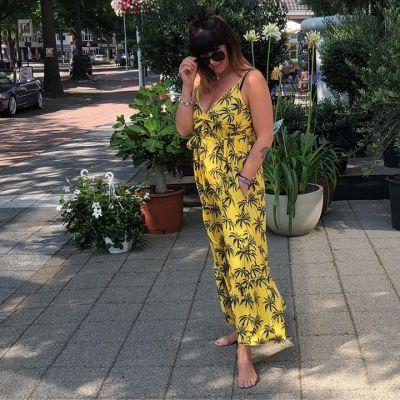 H E Y Y O U  Tropical Dress #studiojill #hawai #yellow #leaves #yellow #happy #zon