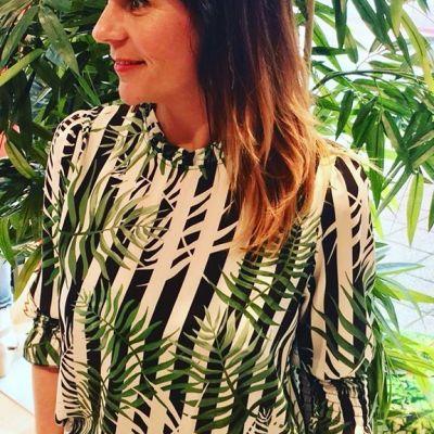 NEW MODEL #typicaljill #studiojill #blouse #prints #leaves