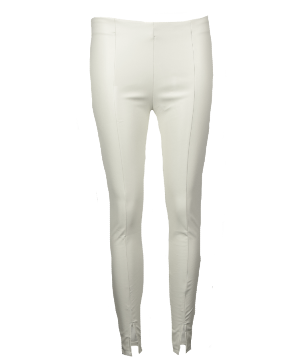 Legging shiny split off white