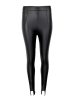 Legging shiny split zwart