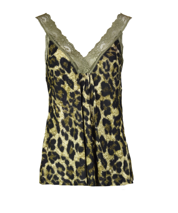 Singlet Marion leopard groen
