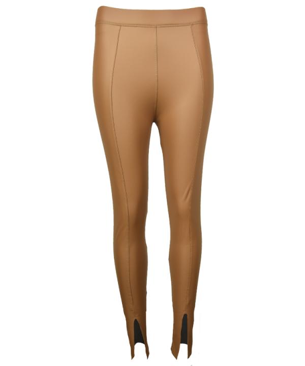 Legging shiny split camel