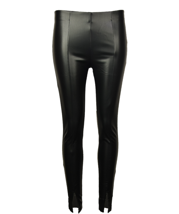 Legging shiny split zwart