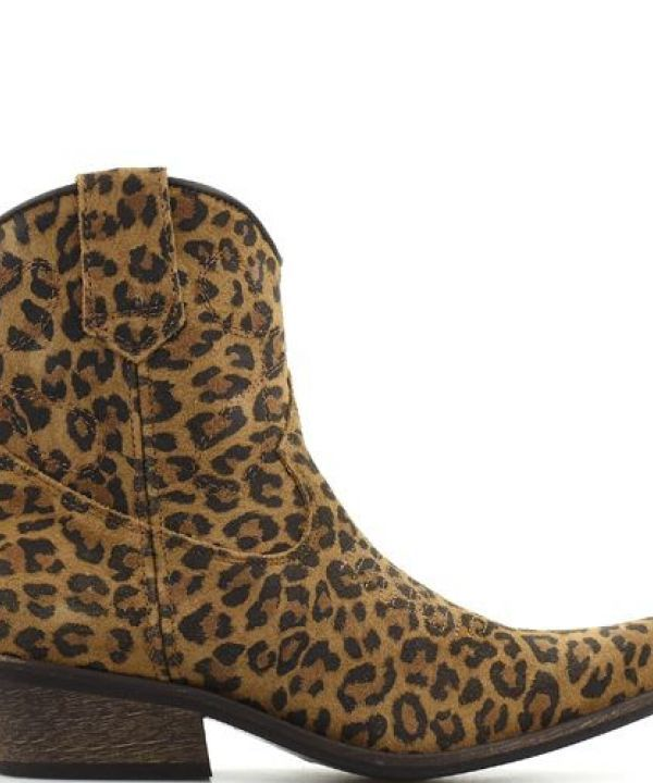 Boot low Texas leopard