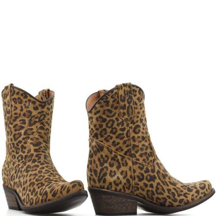 Boot low Texas leopard