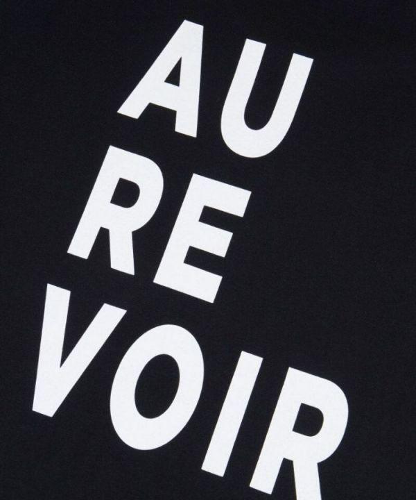 Shirt Au Revoir zwart