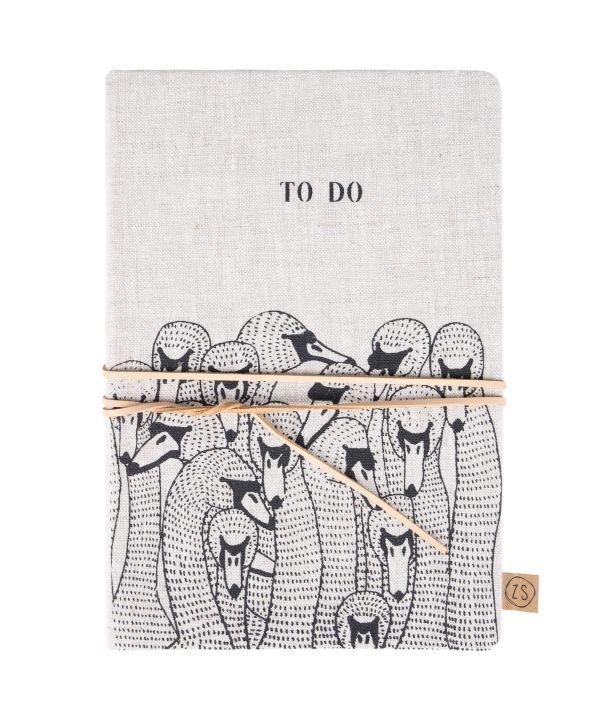 notitieboek met veter