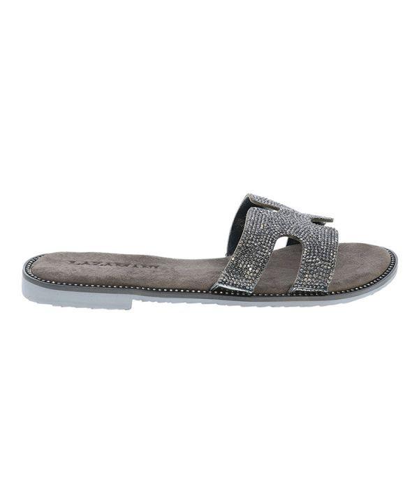 Slipper shiny mules