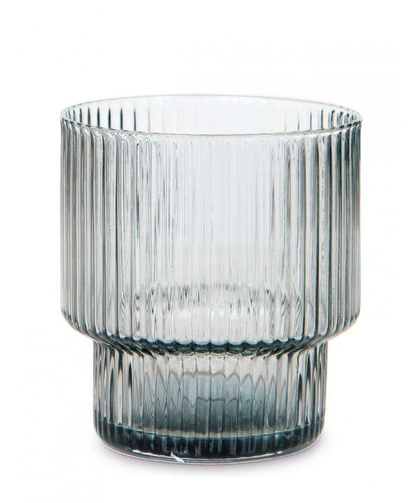 Ribbed glass small