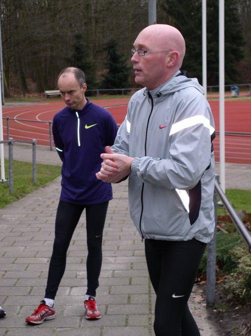 Rene Godlieb (winnaar Sylvestercross 1992) traint wedstrijdlopers voor de komende Sylvestercross Soest
