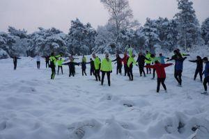 Laatste clinic Sylvestercross wederom in de sneeuw