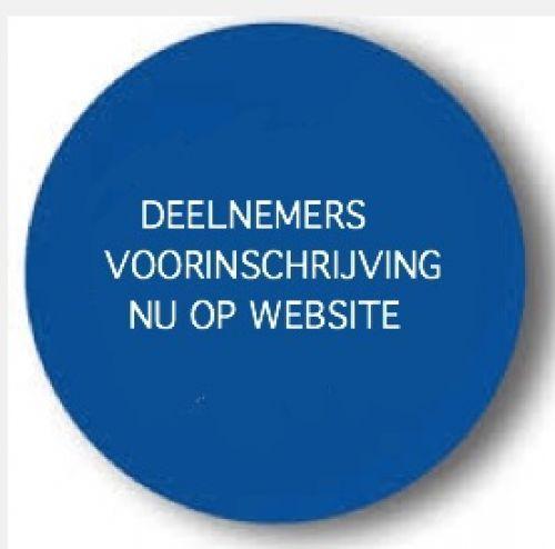 Deelnemers voorinschrijving staan op website