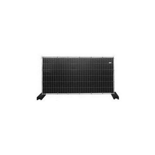 Bouwhek B350xH200 cm zwart zeil