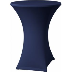 Statafelrok stretch blauw