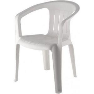 Kunststof terrasstoel wit