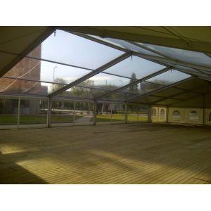 Transparant dakzeil tbv 15m VIP Aluhal