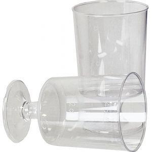 Plastic borrelglazen 4cl.