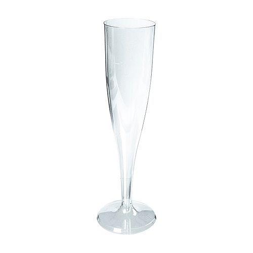 Plastic champagneglazen 10cl.