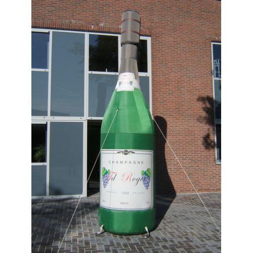 Opblaasbare Champagnefles 4,5 meter