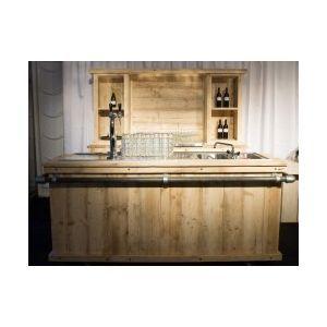 Achterkast met koelingen steigerhout