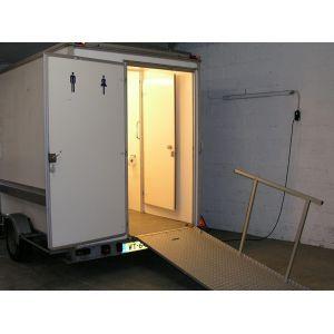 Mindervaliden toiletwagen, incl. eindschoonmaak