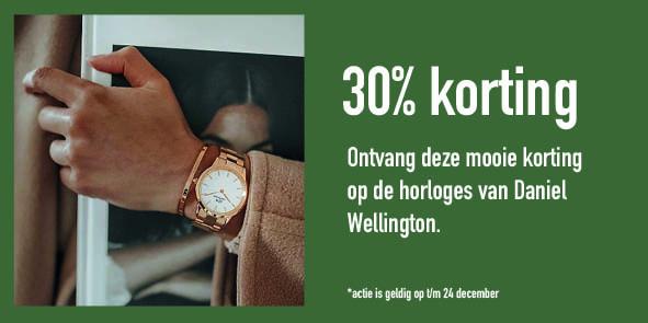 Daniel Wellington horloges bijJuwelier Martin van Zijp