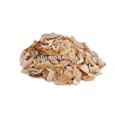 Houtsnippers voorgedroogd en extra gezeefd, big bag 1 m³