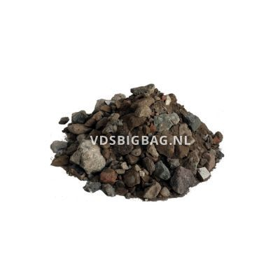 Menggranulaat van gebroken puin 0-31,5 mm, big bag 1 m³