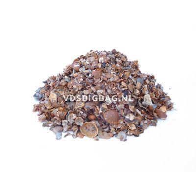 Schelpen geel/bruin/wit 3-15 mm, big bag 1 m³