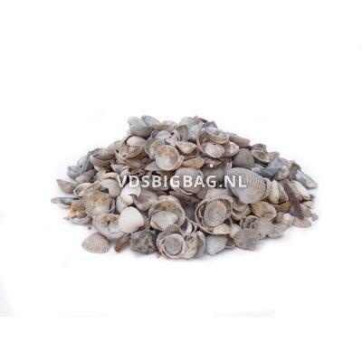Schelpen blauw/grijs/wit 3-15 mm, big bag 1 m³