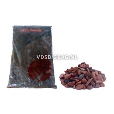 Split Rode Mijnsteen 10-20 mm, zak 25 kg