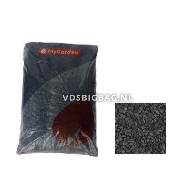 Basalt split antraciet 8-16 mm, zak 25 kg