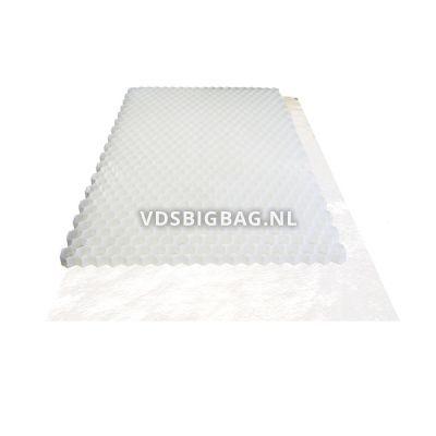 Splitplaat incl. doek (lxbxh) 120x80x3 cm, ± 0,96 m², wit