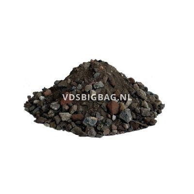 Menggranulaat van gebroken puin 0-20 mm, losgestort per m³